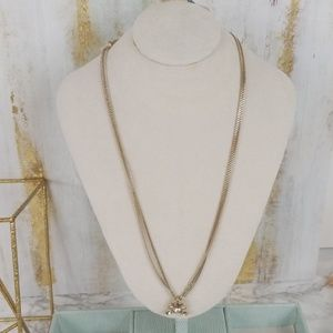 Givenchy Necklace Gold Tone Crystal